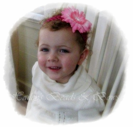 Soft crochet and lace headbands perfect for sweet baby girls or girls of any age! These headbands are great with a flower or headband attached. Some headbands may be purchased separately, allowing you to create your own headband set with our beautiful flowers, hair bows and clippies.