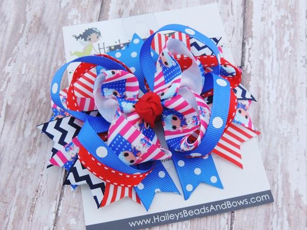 Lalaloopsy Inspired Hair Bows-Lalaloopsy hair bows, character hair bows, toddler hair bows, hair clips, baby hair bows, large hair bows