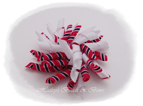 Pride-korker hair bows, large hair bows, baby hair bows, boutique hair bows, toddle hair bows, twisted hair bows, layered hair bows