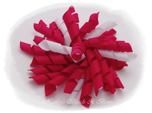 Sweetheart-large korker hair bows, hair bows, korkers, toddler hair bow, boutique hair bow, red and white hair bow, valentine hair bow, holiday hair bows