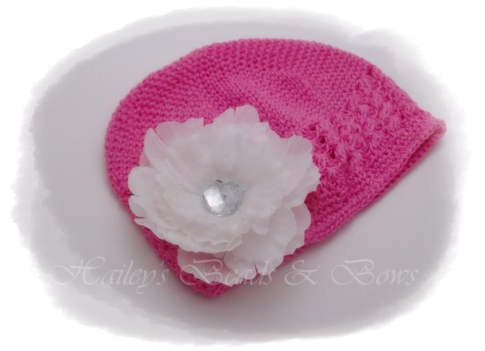 Berry Delightful-crochet beanie hats, crochet hats, baby hats, flower hats, crystal flower hair clip, hair bow hat, flower hair clip, toddler hat, crochet headbands