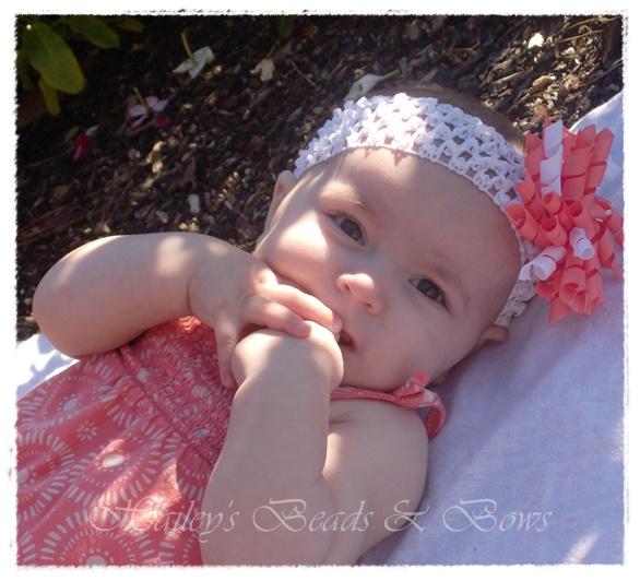 Soft Stretchy Crochet Headbands-crochet baby headband, baby headbands, headband hairbow, hair bow headband, soft headbands, newborn headband, baby headgear, baby hair bows, stretchy headbands