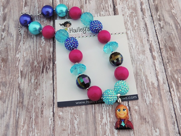 Anna Frozen-Frozen Anna chunky bead necklace, frozen bubble gum bead necklace, frozen bubblegum bead necklaces, princess bead necklaces, baby necklaces, toddler necklaces, frozen party favors, photography props, photo props