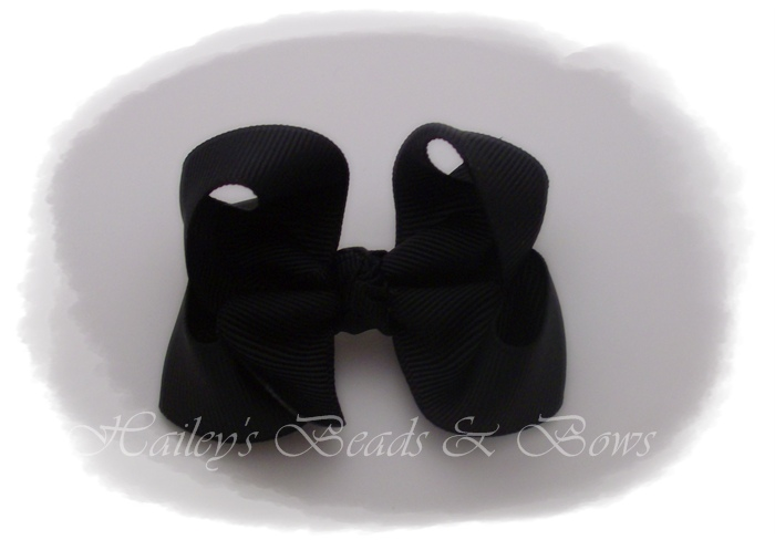 Baby Boutique Bows-Black-baby boutique hair bows, small hair bows, buy hair bows online, handmade louisiana, baby snap clips, cheap hair bows online, small hair clips