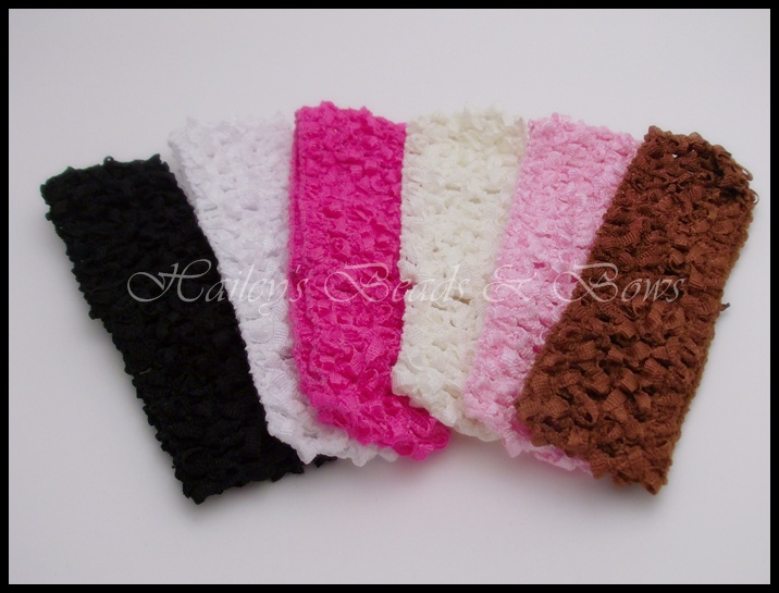 Soft Stretchy Crochet Headbands-crochet baby headband, baby headbands, headband hairbow, hair bow headband, soft headbands, newborn headband, baby headgear, baby hair bows, stretchy headbands