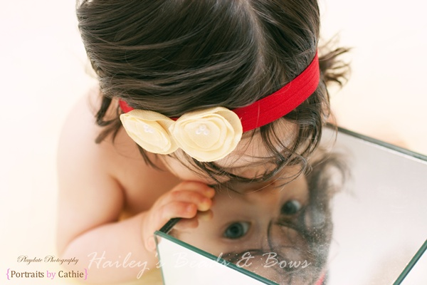 Sunshine Yellow and Red Stretchy Headband-Singed flower headband, red and yellow headband, pearl flower headband, baby girl headband, newborn girl adult headband, soft elastic headband, skinny elastic headband, yellow flower headband, handmade louisiana